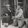 Claudia McNeil and Sidney Poitier in the stage production A Raisin in the Sun.
