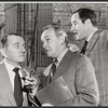 Martin Gabel, Remak Ramsay and unidentified actor in rehearsal for the stage production Sheep on the Runway