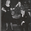 Julie Harris, William Shatner and Fritz Weaver in the stage production A Shot in the Dark