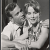 William Shatner and Julie Harris in rehearsal for the stage production A Shot in the Dark