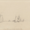 Sketch of our fleet turning round Chebucto head into the the harbour of Halifax