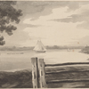 View of part of the rebel works round Walton's House, with the situation of our Batterys on Long Island--taken from N. York Island 8th Octr. 1776