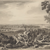 View of Morisinia, Haarlem, Montressor's & Buchannan's Islands, with part of the sound, taken from our lines near McGowan's House. 10 Octr. 1777