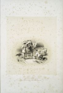 [Washerwomen with horse carrying laundry, Cumberland.]