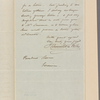 Letter to [Nathaniel F.] Moore, Garrison['s] [N. Y.]