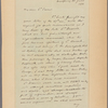 Letter to Dr. [Thomas Addis] Emmet, New York