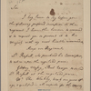 Letter to the Secretary at War [Sir George Yonge, Bart., London.]
