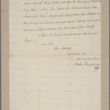Letter to Earl Cornwallis