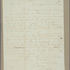 Letter to Thomas S[im] Lee [Annapolis]