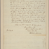 Letter to [Horatio] Gates