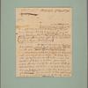 Letter to Gen. [George] Washington
