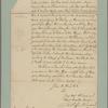 Letter to General [Philip] Schuyler