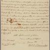 Letter to Major John Wood, Goshen [N. Y.]