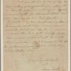 Letter to John Randall, Commissary, Wilmington