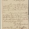 Letter to Richard Varick, Mayor of New York