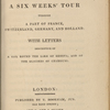 The Shelleys' History of a Six Weeks' Tour, with tipped-in autograph check from P. B. Shelley to Brooks, Son & Dixon, for payment to Charles Ollier