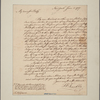 Letter to Miss Eliza Graeme, Philadelphia
