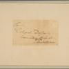 Letter to Col. [Elias] Dayton, Elizabethtown