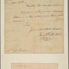Letter to Lieut. Col. [Aaron] Burr, Comm'g the Advanced Posts, White Plains