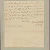 Letter to [Robert Hunter Morris, Governor of Pennsylvania, at Philadelphia.]
