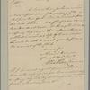 Letter to [Benjamin Lincoln?]