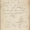 Holograph notebook, 1 January 1820 - ? January 1823