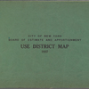 City of New York. Board of Estimate and Apportionment. Use District Map. 1937.