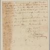 Letter to Mrs. [Elias] Boudinot, Baskinridge [N. J.]