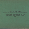 City of New York. Board of Estimate and Apportionment. Height District Map. 1937