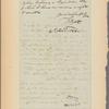 Letter to Dr. [Gurdon] Buck