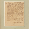 Letter to Joseph Ball at Stratford by Bow [Stratford le Bow, Essex] nigh London