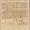Letter to Governor [Horatio] Sharpe [Baltimore, Md.]