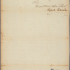 Letter to Robert Purviance, Collector of Baltimore [Md.]
