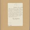 Letter to [John Frederick Hartranft,] Governor of Pennsylvania [Harrisburg]