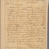 Letter to [Horatio Gates, Traveller's Rest, Berkeley Co., Va.]