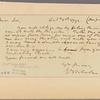 Letter to [Thomas Todd, Richmond, Va.]
