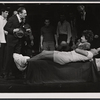 Ray Bolger (second from left), Eileen Herlie (on bed), and cast members in the stage production All American