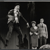 Ray Bolger, Eileen Herlie, and Ron Husmann in the stage production All American