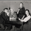 John Karlen, John Sharp, Marjorie Rhodes, and Hazel Douglas in the stage production All in Good Time