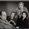 John Sharp, Marjorie Rhodes, Donald Wolfit, and Hazel Douglas in the stage production All in Good Time