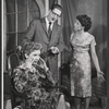 Priscilla Morrill, George Ives, and Joan Hotchkis in the stage production Alley of the Sunset