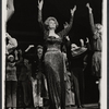 Arlene Dahl and company during curtain call for the stage production Applause