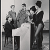 Composer Ray Jessel, Inga Svenson, Fritz Weaver, and unidentified cast members in rehearsal for the stage production Baker Street