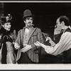 Inga Svenson, Fritz Weaver, and Peter Sallis in the stage production Baker Street