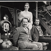 Peter Sallis, Inga Svenson, and Fritz Weaver in the stage production Baker Street