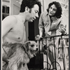Gene Trobnic, L.P. (the dog), and Marian Seldes in the stage production Before You Go