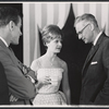 Guest hostess Florence Henderson and unidentified men during break? for the August 11, 1964 episode of the TV variety series The Bell Telephone Hour