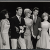 "Barbara McNair, Johnny Harmon, Gretchen Wyler, John Raitt, and Florence Henderson performing in the ""Lyrics by Oscar Hammerstein"" episode on the TV variety series The Bell Telephone Hour"
