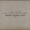 City of New York. Board of Estimate and Apportionment.Height District Map. 1927.