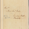 Letter to [Horatio] Gates, Travellers Rest, Barkley [Va.]